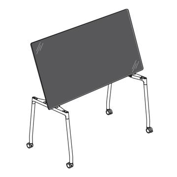 teknion flip top table
