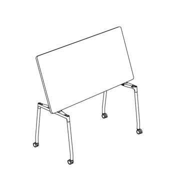 teknion thesis flip top table